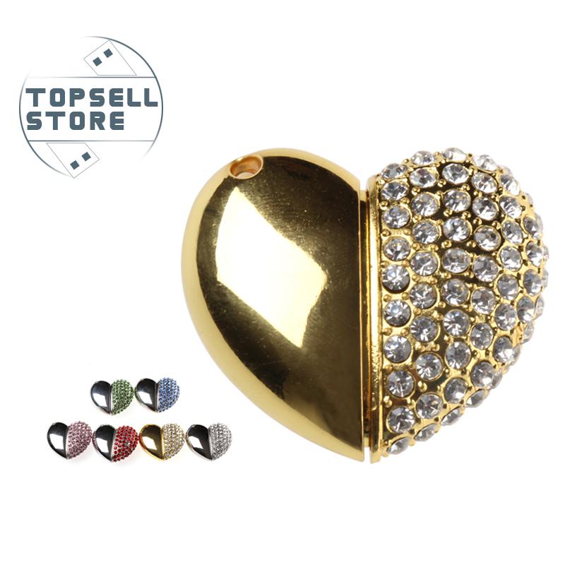 new arrival fashion cool gift metal heart jewelry 4gb 8gb 16gb 32gb flash memory stick disk pendrive pen drive usb flash drive(China (Mainland))