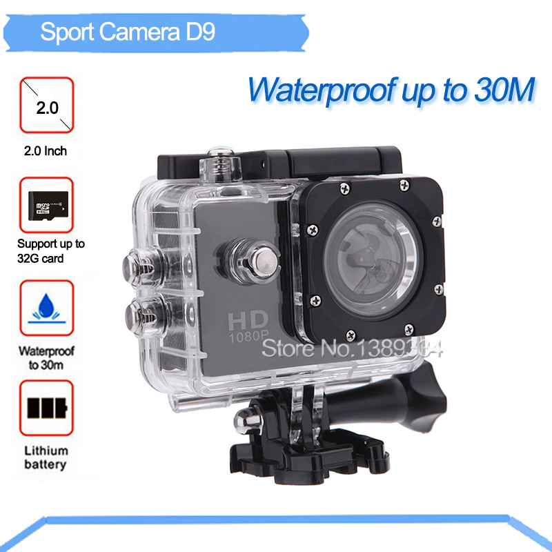 2016 HD Action Digital Cameras 2 inch Screen Waterproof 30M Sport DV Camera Sport Photo Cameras Video Mini Camcorders(China (Mainland))