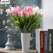 31pcs/lot Tulip Artificial Flower PU artificial bouquet Real touch flowers For Home Wedding decorative flowers & wreaths(China (Mainland))