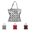 Ladies Folded Geometric Plaid Bag Women Fashion Casual Tote Top handle Bag Shoulder Bags Bao Bao