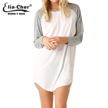 Autumn Active T-shirt Dresses Eliacher Brand Plus Size Full Sleeve O-Neck Women Clothing Chic Elegant Dress vestidos(China (Mainland))