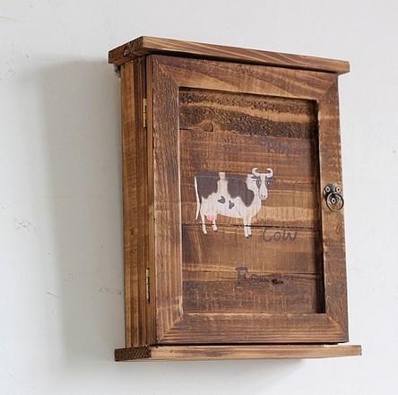 Vintage Retro Wooden Key Box storage Key Hanger rack wood key cabinet racks Cow(China (Mainland))