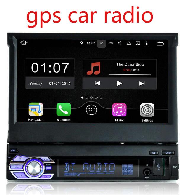 Single 1Din Car Stereo Receiver with FM/CD/MP3/USB Car DVD Player GPS Navigator Bluetooth Headunit Car radio GPS Navigation(China (Mainland))