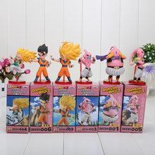 6 pçs/set WCF Dragon Ball Z Super Saiyan Goku Son Gohan Goten Majin Buu Vegeta Jaco Zeno Zamasu Figura de Ação conjunto de brinquedos Dragonball(China)