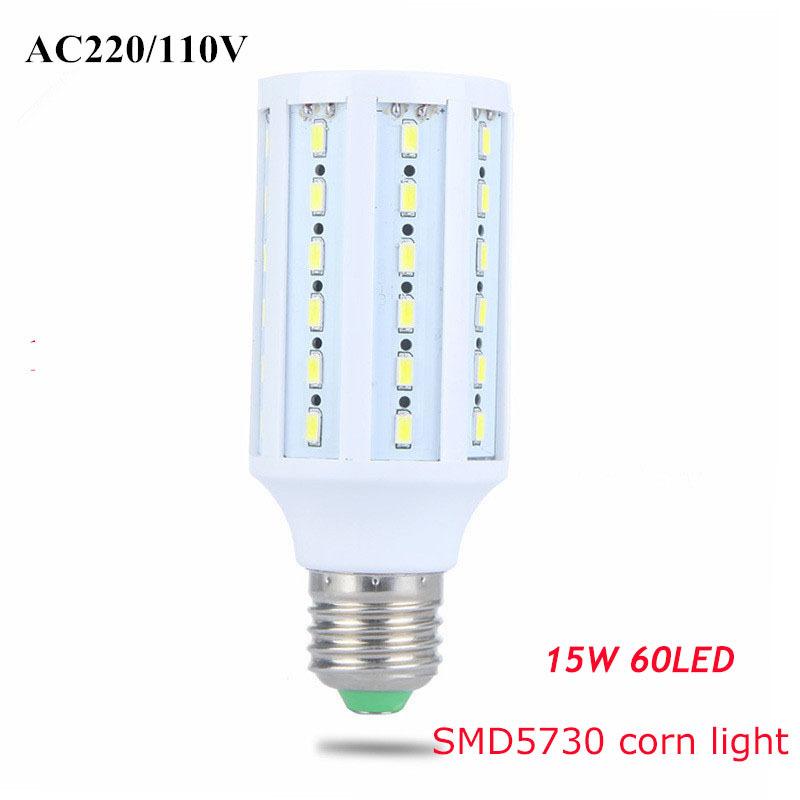 5630 SMD LED Corn Bulb Light E27 led Lamp 15W replace 150W halogen lamp 220V Warm White white Energy Efficient light 1PCS(China (Mainland))