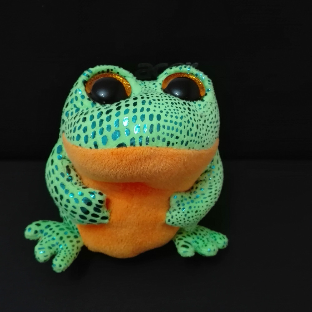 TY BEANIE BOOS 1PC 15CM Speckles green frog Stuffed animals KIDS TOYS VALENTINE GIFT(China (Mainland))