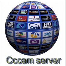 Best CCcam Europe Cline Server 1 year Satellite Decoder Spain UK Germany France Italy Free 3 in1 RCA Cable DHL Shipping(China (Mainland))