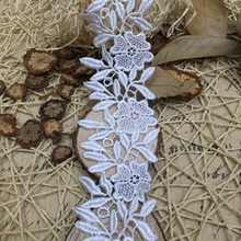 Clothing accessories DIY water soluble lace polyester bar code small leaves roses(China (Mainland))