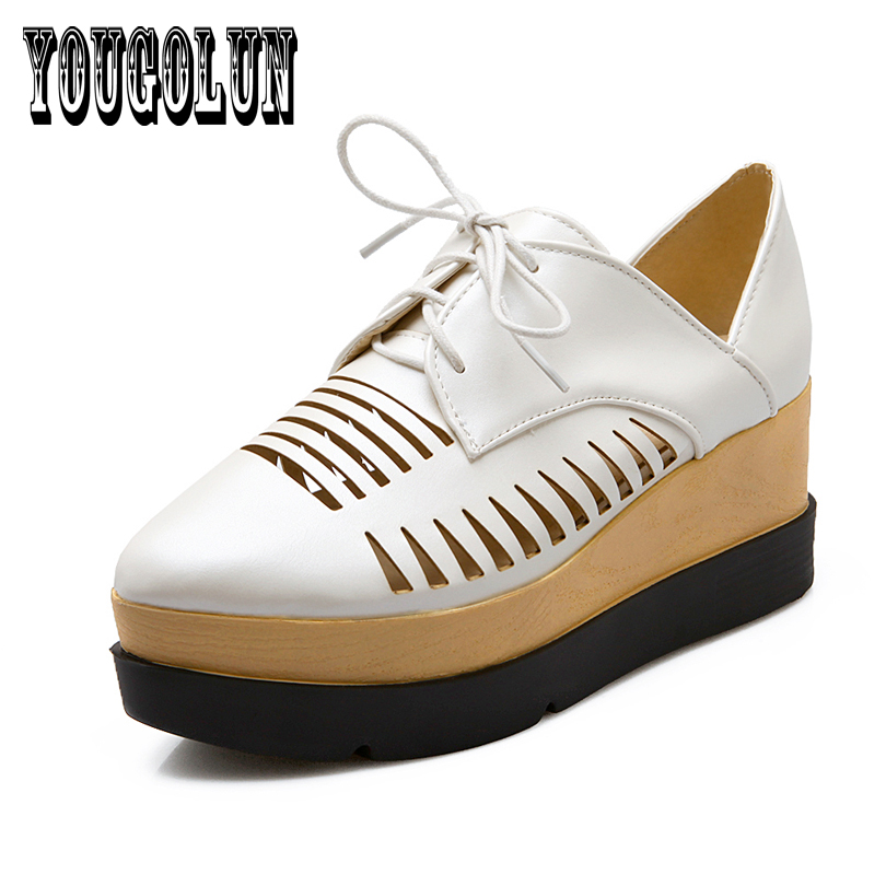 patent PU leather platform Cut-Outs classic women oxfords dress shoes,2016 spring pointed toe shoes oxford shoes for woman<br><br>Aliexpress