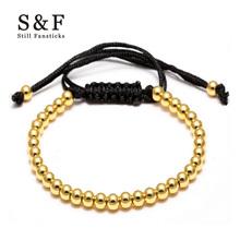 Buy Anil Arjandas Men Jewelry 4mm Gold Bead Strand Bracelets women Bracelet homme pulseira masculina bileklik Charms wristband for $1.81 in AliExpress store