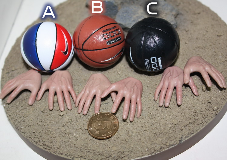 "1/6 Built In Magnet Basketball + Magnet Hand Type Support HT Body for 12"" Collectible Action Figure DIY(China (Mainland))"