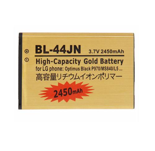 Original New High Capacity 2450mah BL-44JN gold battery for LG p970 p690 p693 p698 c660 ms840 L5 E510 E610 E730 E400(China (Mainland))
