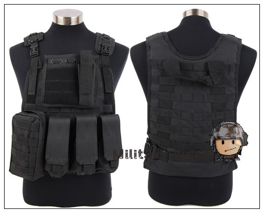 Airsoft Hunting Military Police Tactical Molle Nylon Plate Carrier Vest Wargame Paintball Army Combat Vest Gear Black^