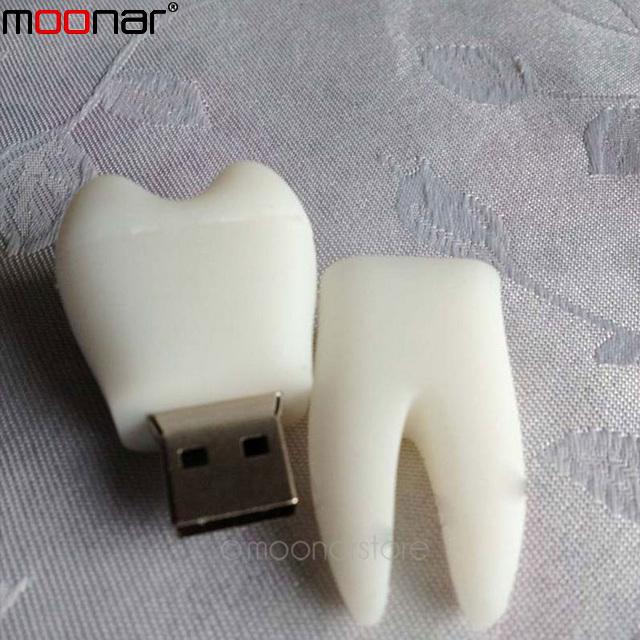 New Cartoon Novelty White tooth 4GB USB 2.0 Memory flash stick pen thumbdrive U disk real capacity X90*DA1055A(China (Mainland))