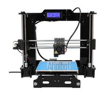 2015 Afinibot 3d printer DIY Kit with LCD Screen Acrylic Frame  Reprap Prusa i3 desktop impressora +Free 2 Roll   filament