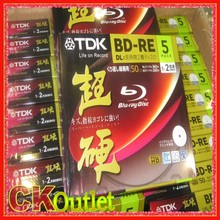 5 Pcs TDK BD-RE RE 50GB Blu-ray DL 260Min 2x Speed BluRay Rewritable Blank Disc with Free Gift(China (Mainland))