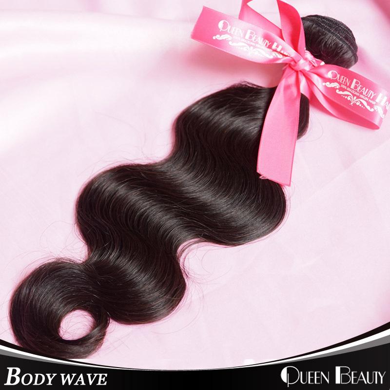 1 Bundle brizilian virgin hair human hair extensions 8-30 inch 100grams/piece 100% brizilian body wavy hair,natural black hair(China (Mainland))
