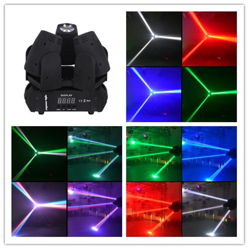 Professionnal Moving Head Beam 3pcs10W Triangular LED Moving Head Light RGBW LED DMX512 Controller DJ Disco Lighting Equipment(China (Mainland))