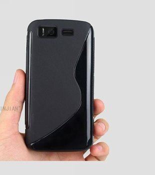 Protective Soft TPU Gel Back Case For Gionee GN180 Cell Phone Black Jelly Cover S Wave Style