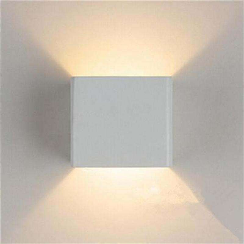 Led Up And Down Wall Lights: 7W LED Outdoor Wall Lamp IP65 Surface Mounted Outdoor Cube LED Wall Light  White Up and,Lighting