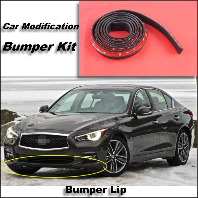Bumper Lip For Infiniti Q50 V37 2013~2015 Front Spoiler Skirt / Bumper Kit / Deflector Lips Car Scratch Proof Adhesive Strip<br><br>Aliexpress
