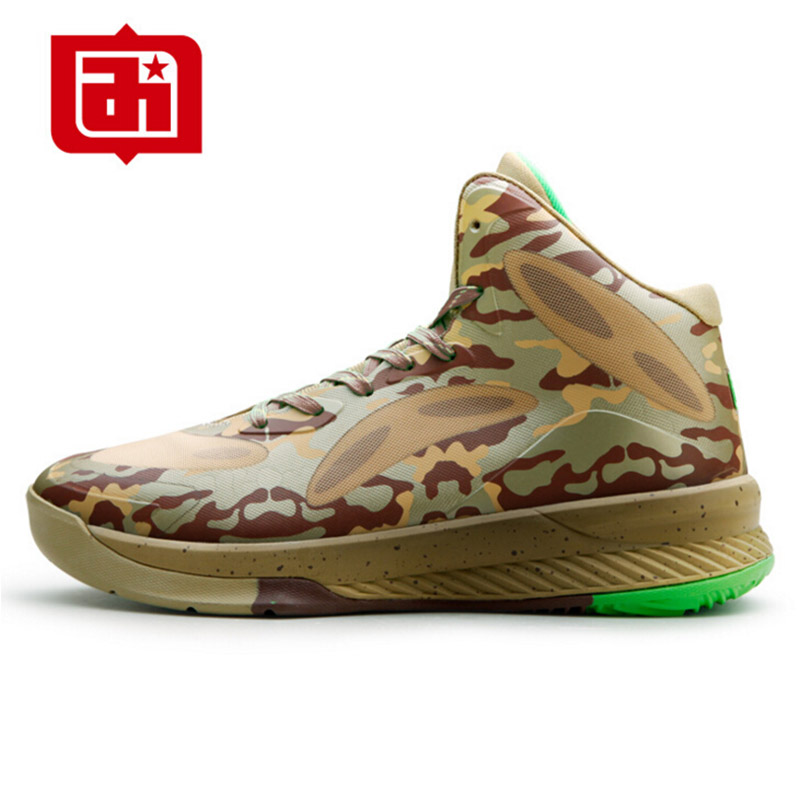 Iverson Men's Basketball Shoes Camo Rubber Basketball Boots Outdoor Indoor Athletic Sport Shoes Retro Soldier Basketball Shoes(China (Mainland))