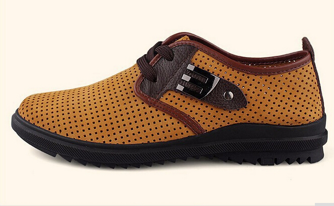 plus size handmade summer style genuine leather shoes