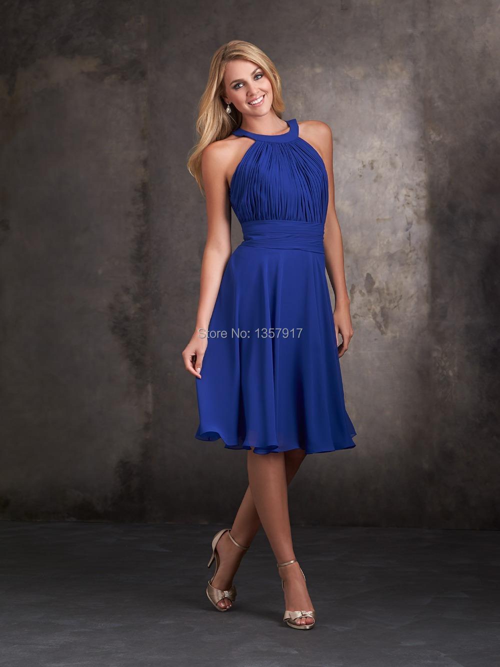 Halter Neck Knee Length Dress