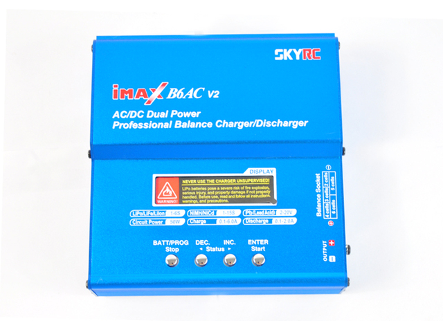 Sky-B6AC-A1 Original Skyrc IMAX B6AC Battery Balance Charger For Lipo NiMH 2S-6S RC Battery B6-AC Charger with leads