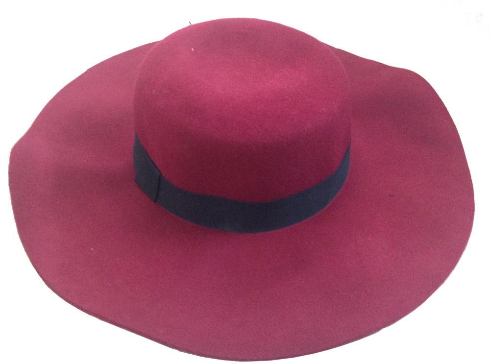 Flat Brim Caps For Girls Cap Flat Top Hat Wide Brim