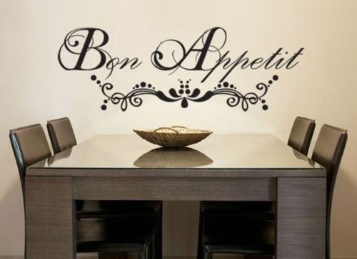 Wall Stickers Home Decor French Quote Bon Appetit Vinyl