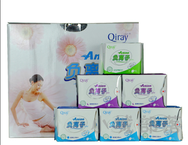 Love moon Anion Sanitary Napkin Pads Sanitary Towels Leakproof 10D+4N+5P 19package Set Female Hygiene Product For women(China (Mainland))