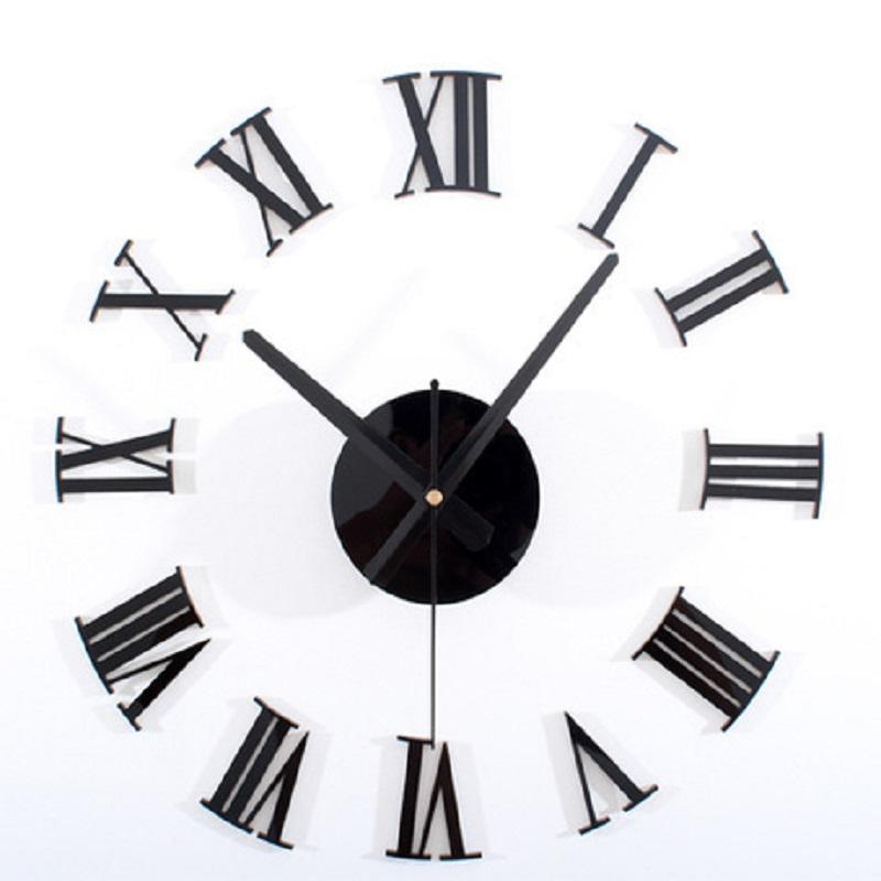 2015 New Diy Wall Clock Roman Numeral Number Wall Clock 3d