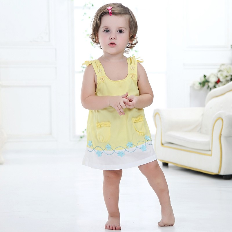 Happy Easter Gifts Baby Dresses 1-2 years Girls Infant Cotton Clothing Dress Summer Clothes Printed Embroidery Girl Kids Dress