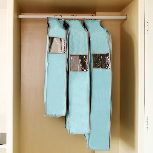 Bamboo Charcoal Blue Suit Storage Bags Dust Cover Clothes Coat Organzier Wardrobe Closet Organizer Supplies Accessories Products(China (Mainland))