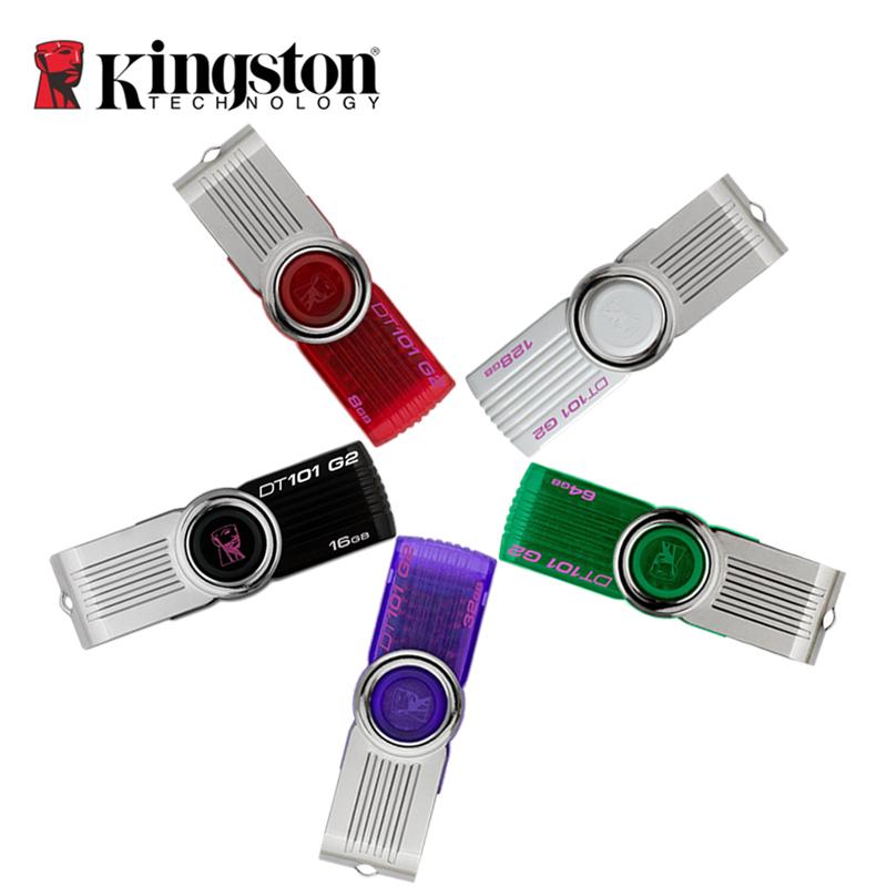 original Kingston usb flash drive 2.0 8gb 16gb 32gb 64gb 128gb memory driver usb pen-drive stick Plastic Mental Swivel pendrive(China (Mainland))