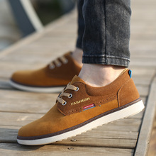 2015 Fall Men s shoes British fashion leather flats sneaker loafers shoes lace up 4 color