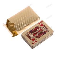 Продаваемая dollarbid! 24 k карат золото фольга покрытие игра покер казино игральных карт палубе новейших Классик