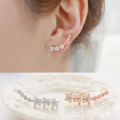 New Arrival Fashion 925 Sterling Silver Earrings for Women Girls Gift Fashion Statement Jewelry 2016<br><br>Aliexpress