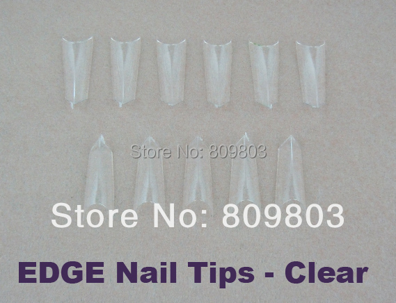 Prism nail tips / EDGE French Nail Tips- Clear 500 tip / bag(China (Mainland))