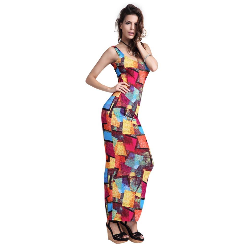 H.SA 2016 Women Maxi Beach Dress Sleeveless Casual ...