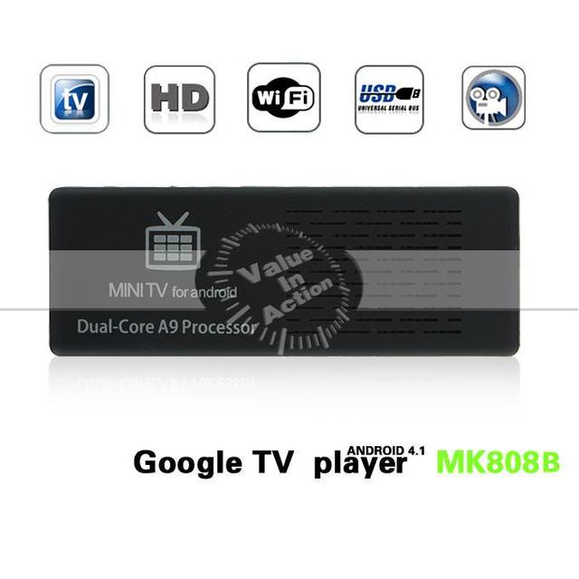 Original MK808B Bluetooth Android Mini PC Dual Core RK3066 Cortex-A9 STV Stick Box Dongle MK808 Updated Quad Core GPU