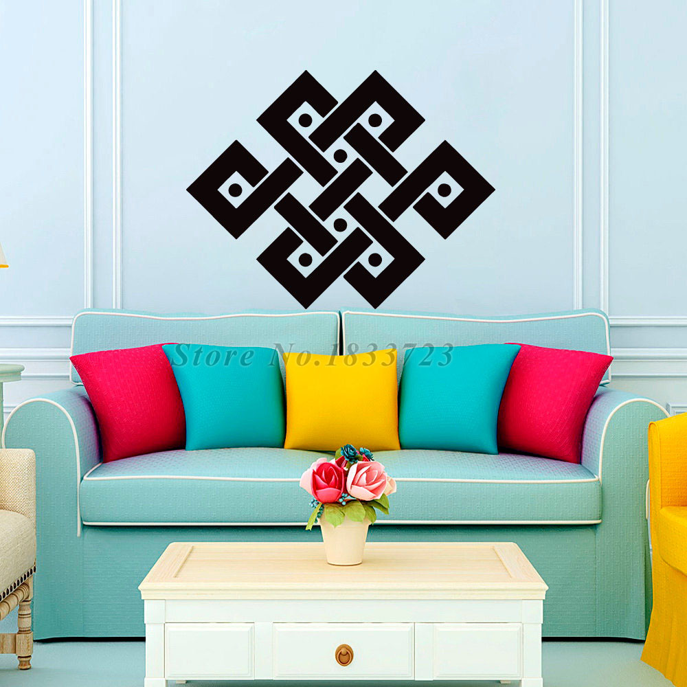 Wall Art New Home : Dctop new arrival wall stickers geometry mandalas