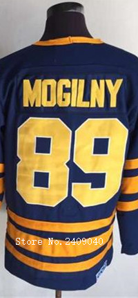 Wholesale #89 Alexander Mogilny 1983-84 Navy Blue CCM Vintage Throwback Hockey Jerseys All Name Number Stitched(China (Mainland))