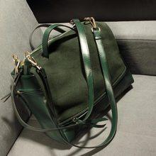 Elegantné dámska kabelka tmavo zelená a čierna z Aliexpress