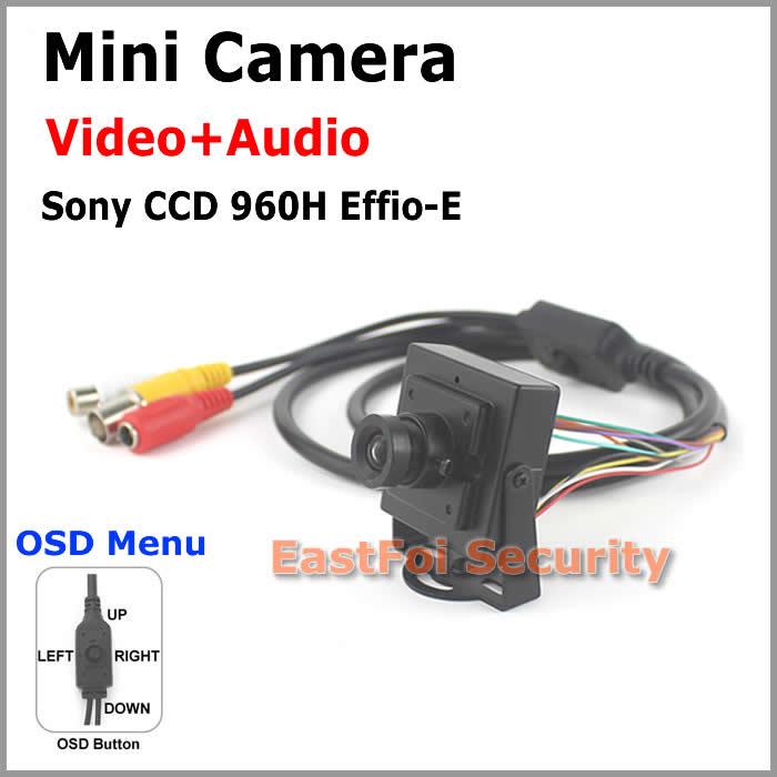 NEW! Mini CCTV Camera with Sony CCD 960H OSD Built-in microphone Audio pick-up adjustable OSD menu 0.01Lux Minimum Illumination<br><br>Aliexpress