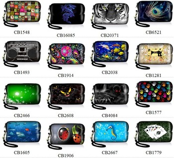 Soft Digital Camera Bag Mobile Phone Case w/ Strap For Canon Nikon Sony Samsung
