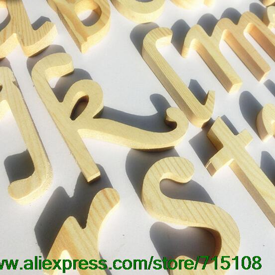 Natural Solid Lowercase Wooden Letter Home Furnishing Personality Decoration Mural Wall Hanger DIY Decor 10CM High 8pcs/lot(China (Mainland))