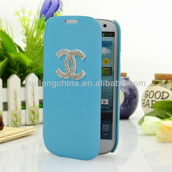 2013 hot sell new style with Fashion personality beautiful lady rhinestone Fold for case forcase forcase for samsung