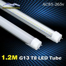 18w 20w 24w 1200mm T8 Led Tube light 160pcs LEDs G13 4FT Led Fluorescent Lamp 100v 110v 220v 240v Cold White Warm White(China (Mainland))